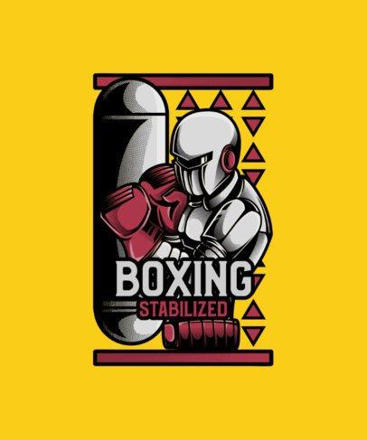 Boxing T-Shirt Design Generator Featuring a Futuristic Character 38d-el1