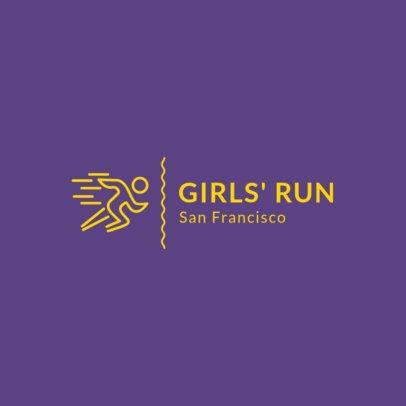 Simple Running Club Logo Maker 1543d