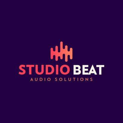 Online Logo Maker for Music Studios 408-el1