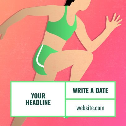 Instagram Post Template for a Fitness Instagrammer 2081