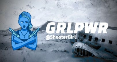 Rainbow Six Siege-Related Twitch Banner Creator with a Shooter Female Character 2080c