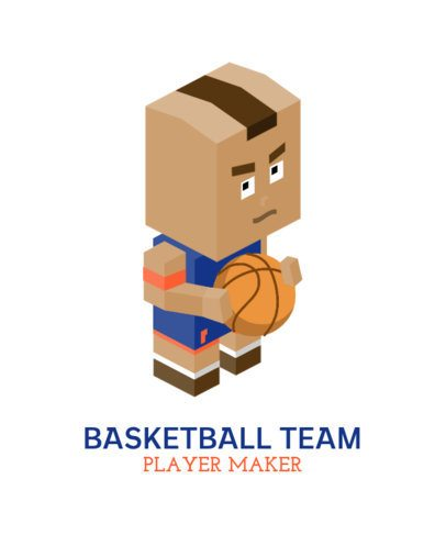 T-Shirt Design Maker Featuring Basketball Players 198-el1