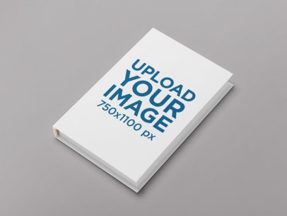 Hardcover Book Mockup with a Customizable Background 30925