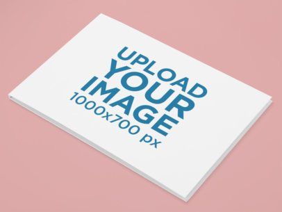Hardcover Book Mockup with Customizable Background 30935