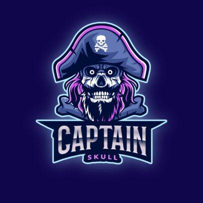 Online Logo Creator Featuring a Skull Captain 2811c