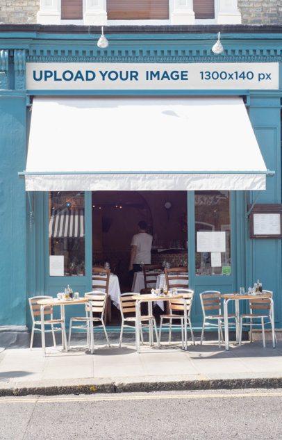 Storefront Mockup Featuring a Restaurant Facade 577-el1
