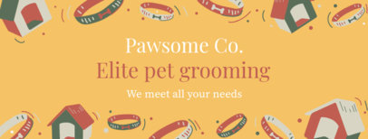 Facebook Cover Generator for a Pet Grooming Page 2120a