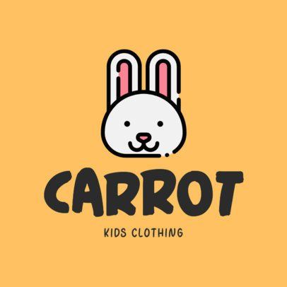 Kid's Clothing Logo Maker Featuring Cute Animal Illustrations 305-el1