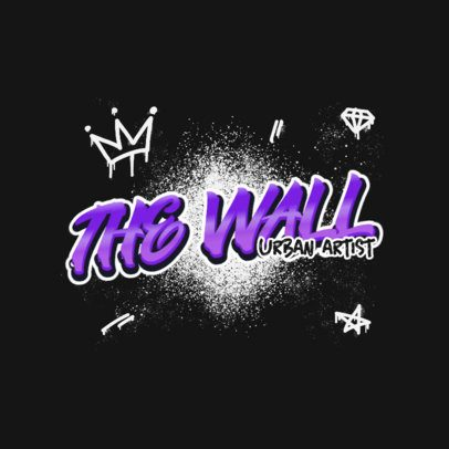 Logo Template with Graffiti Typography and Graphics 2804c
