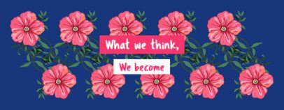 Illustrated Mug Design Maker with Flowers and a Quote 2116g