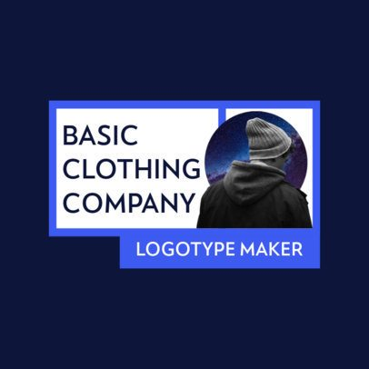 Clothing Brand Logo Template with a Basic Block Design 2806d