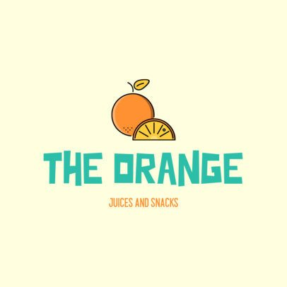 Online Logo Maker for a Juice Bar with Fruit Graphics 489-el1