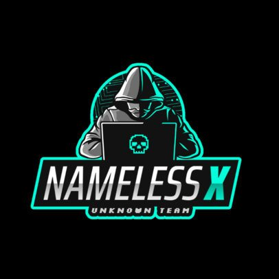 Gaming Logo Creator Featuring a Nameless Hacker 2815a
