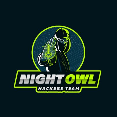 Gaming Logo Maker with a Security Hacker Illustration 2815e