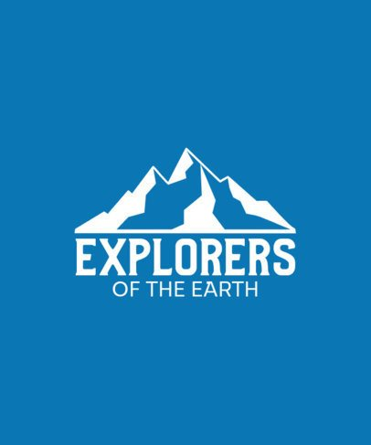 T-Shirt Design Template for a Daring Explorer 201a-el1
