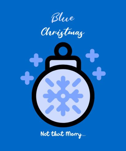 T-Shirt Design Creator for the Christmas Blues 308c-el1