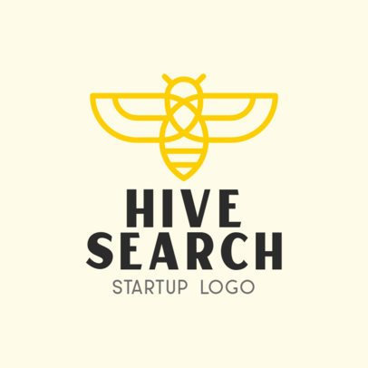 Online Logo Maker for a Startup with a Bee Clipart 330c-el1