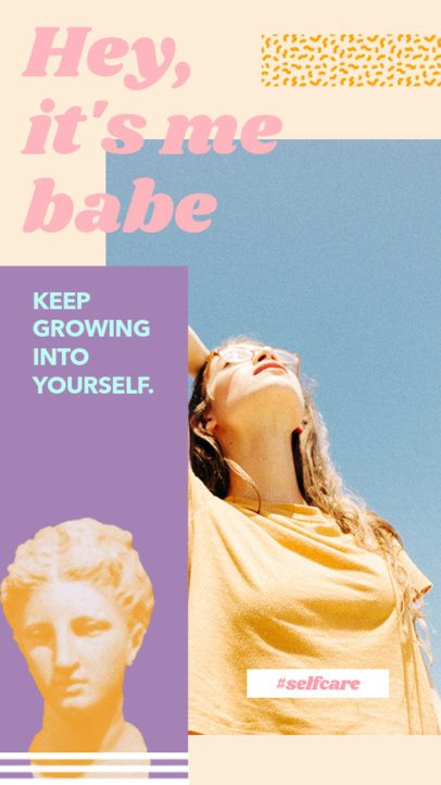 Self-Care Instagram Story Template with a Trendy Style 2111d