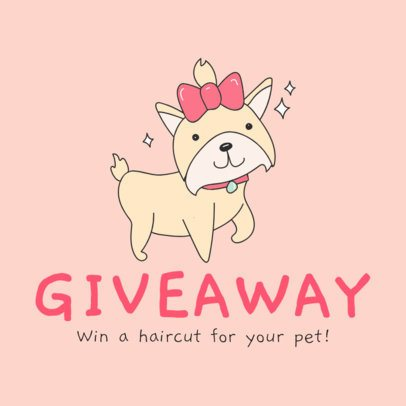 Instagram Post Maker for a Pet-Haircut Giveaway 2118a