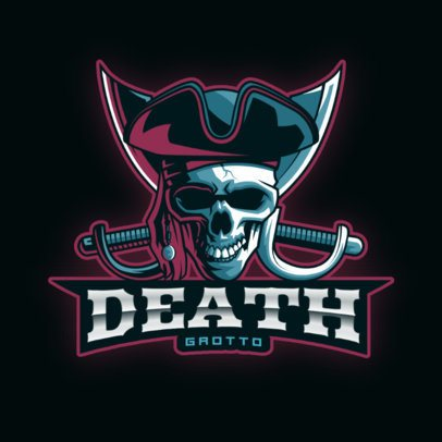 Online Logo Maker with an Illustrated Pirate Skull 2811u