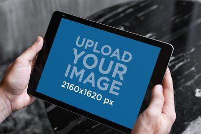 iPad Mockup Featuring a Monochromatic Background 2176-el1