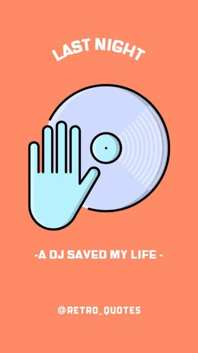 Instagram Story Maker for a Retro DJ Party 488c-el1