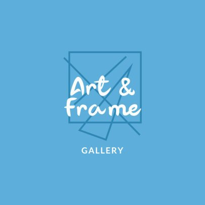 Modern Logo Template for an Art Gallery with an Abstract Graphic 1187g-2833