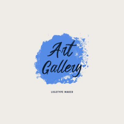 Art Gallery Logo Maker with a Colorful Shape Graphic 1187h-2833