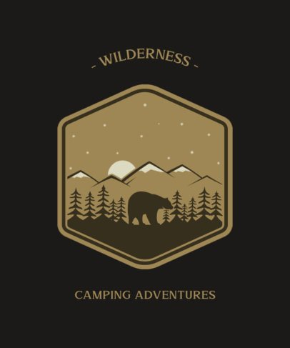 Adventure T-Shirt Design Template with a Badge Graphic 203-el1