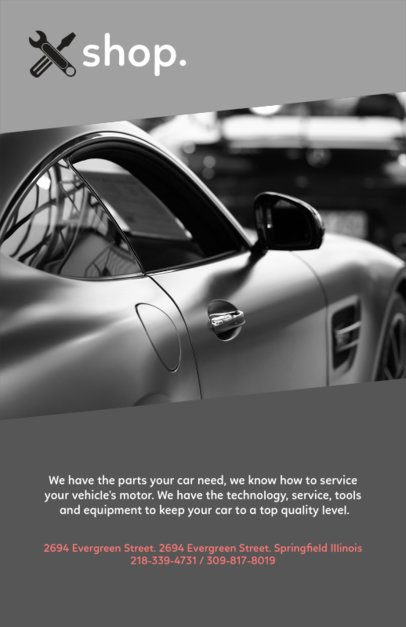Elegant Flyer Design Template for a Car Workshop 279e