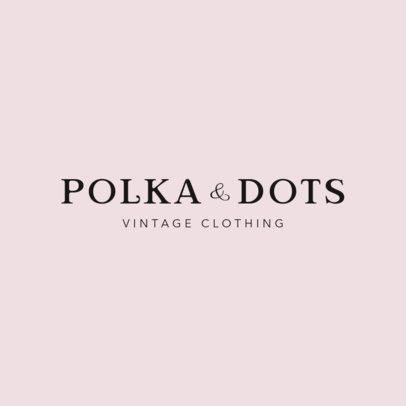 Elegant Typography Logo Maker for a Vintage Clothing Store 1338f-2837