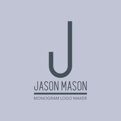 Fashion Brand Logo Generator Featuring a Monogram Style 1318g-2834