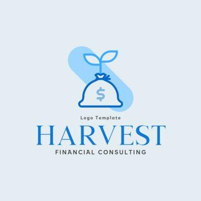 Financial Advisory Services Logo Maker with a Money Bag Graphic 484b-el1