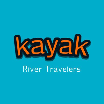 Logo Template for a Travel Brand with a Compact Font 2750h-2836