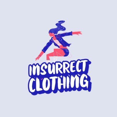 Streetwear Apparel Logo Maker with a Cool Illustration 2592h-2835