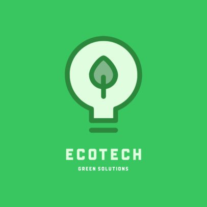 Technology Logo Creator with a Green Bulb Graphic 223-el1