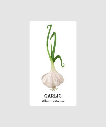 Herb T-Shirt Design Maker Featuring a Garlic Clipart 206c-el1