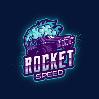 Logo Template Inspired by Rocket League Featuring Car Graphics 2851