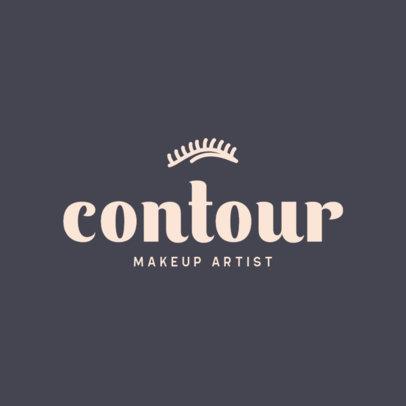 Simple Logo Maker for a Makeup Artist 421a-el1