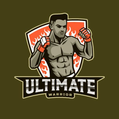 Sports Logo Maker Featuring MMA-Themed Graphics 2852