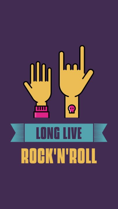 Musician Instagram Story Generator Featuring Rock and Roll Icons 339a-el1