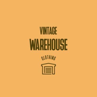 Vintage Logo Maker for a Clothing Warehouse 2355i-2838