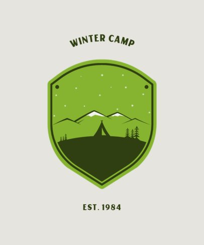 T-Shirt Design Maker Featuring a Tent at the Mountains 203a-el1
