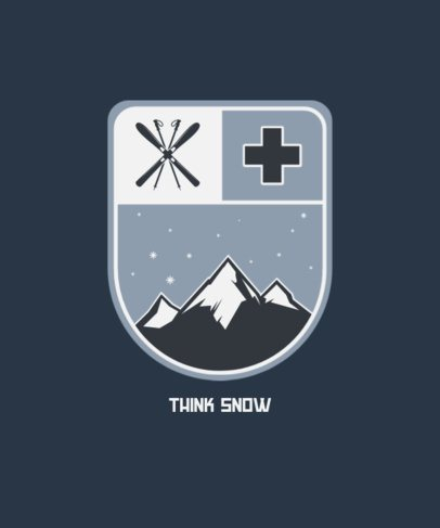 Ski T-Shirt Design Maker with an Elegant Badge Graphic 203c-el1