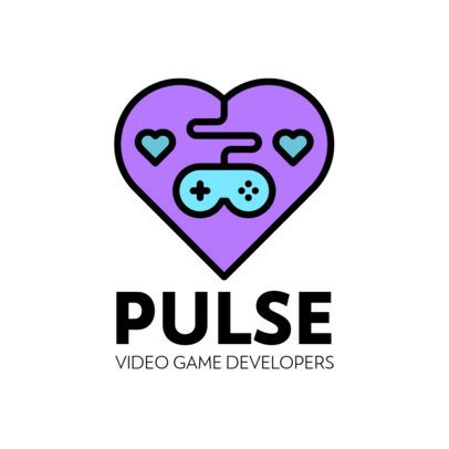 Gaming Logo Maker Featuring a Heart Icon 341c-el1