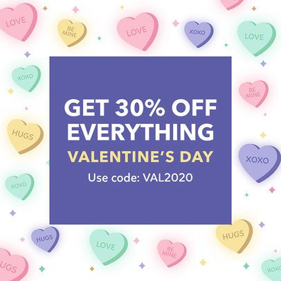Instagram Post Design Template for a Valentine's Day Offer 2142