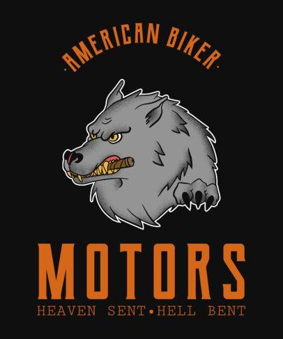 Modern T-Shirt Design Template for a Biker Club 2132
