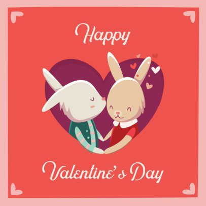 Valentine's Day Instagram Post Maker with Cute Illustrations 204-el1
