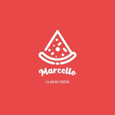 Simple Logo Template for a Pizza Restaurant 457a-el1