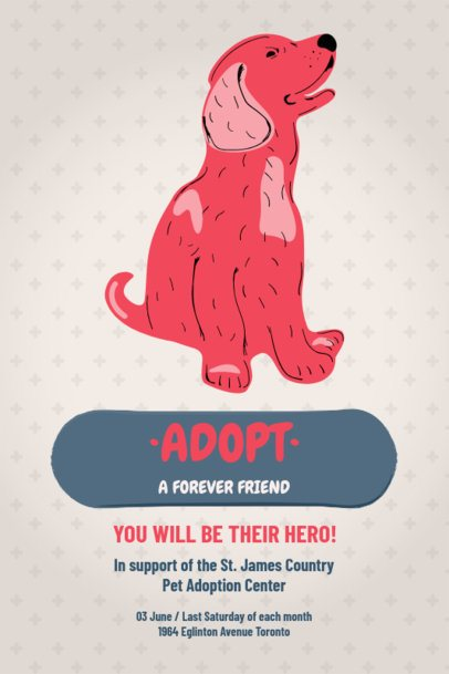 Flyer Template for a Pet Adoption Campaign 2151